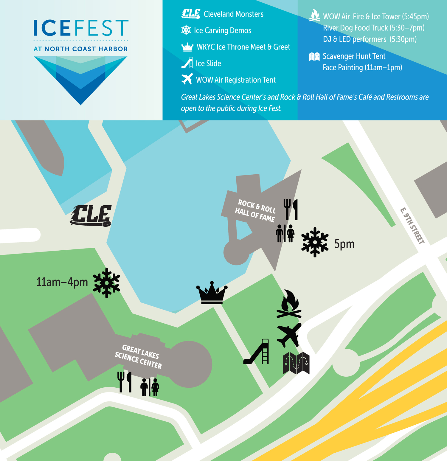 2018 Ice Fest Event Map