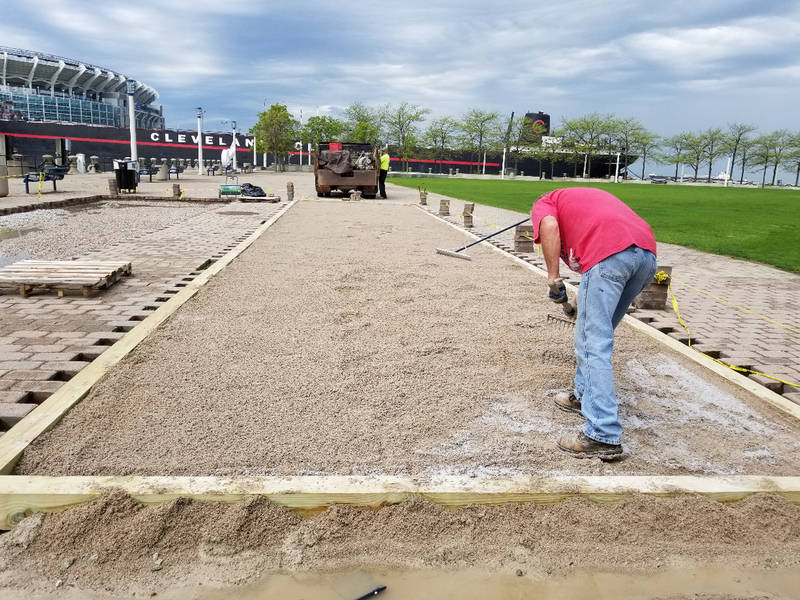 New Public Bocce Courts in Cleveland