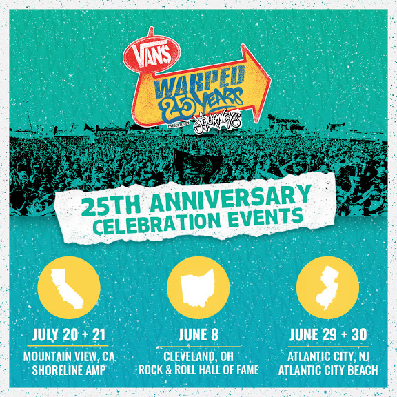 Rock Hall event on June 8 will kick off 25th anniversary of Warped Tour